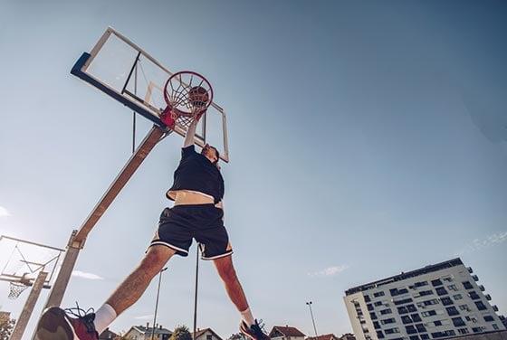 Punkte Beim Basketball