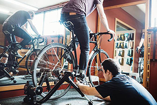 Bike fitting: finding the right frame size and the most efficient seating position.