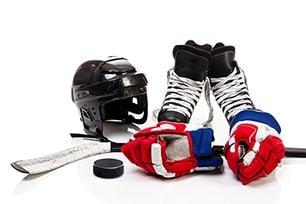 Eishockey-Ausrüstung anziehen, waschen & Co.