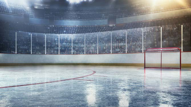 Eishockeyspielfeld