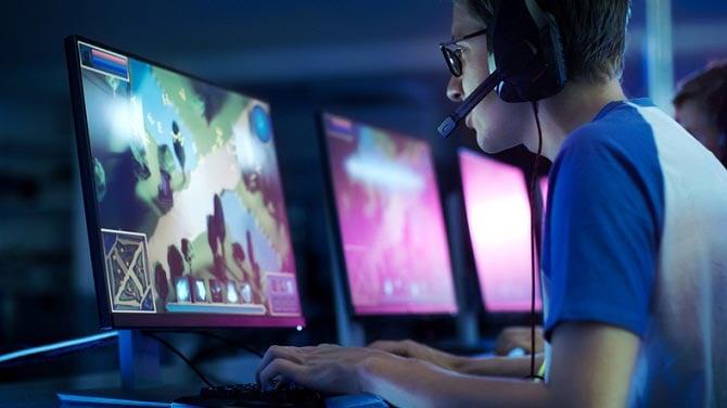 Gamer at an Esports tournament