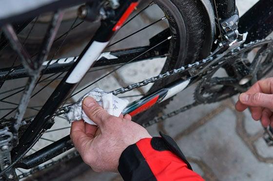 Fahrradkette Reinigen Bremsenreiniger