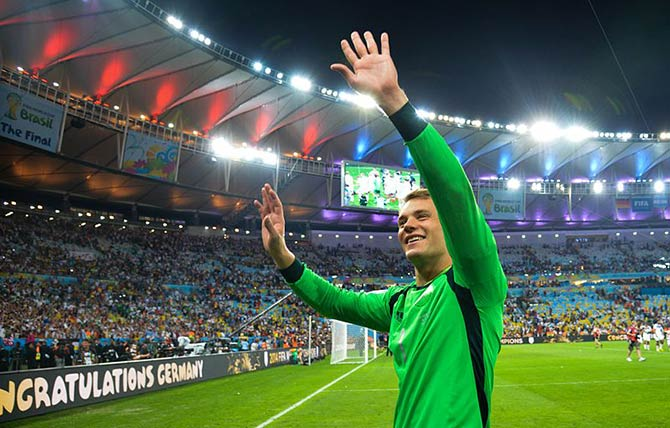 Welttorhüter Manuel Neuer bei der WM 2014