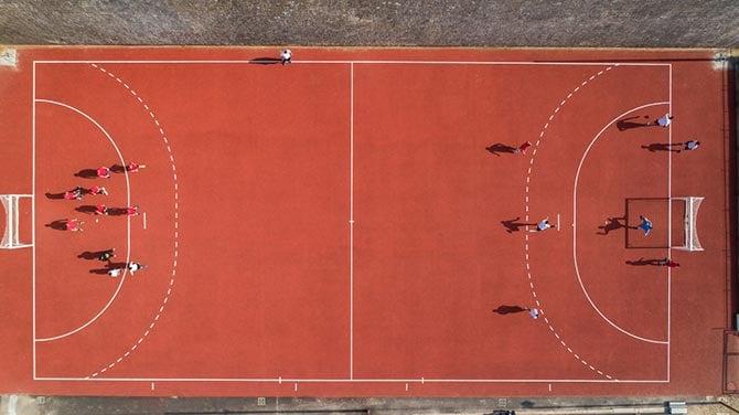 Spielfeld beim Handball