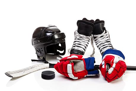 Ice hockey equipment. How to put it on, washing & Co.