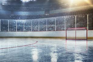 Why American ice hockey rinks are smaller than European rinks