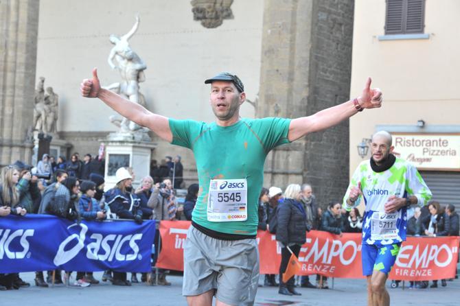 Andreas Safft beim Marathonlauf