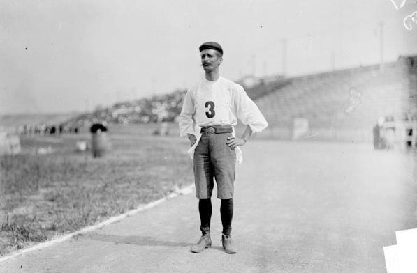 Marathonläufer Andarín Carvajal bei den Olympischen Spielen 1904