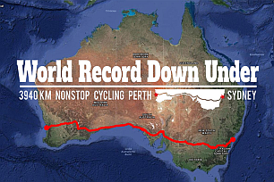 Christoph Strasser heading for the record: From Perth to Sydney in under a week