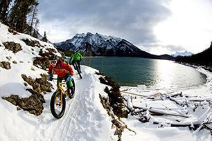 Winterse fietssport