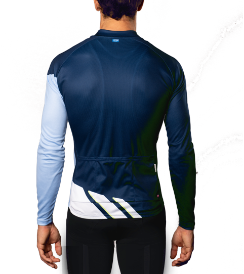 Cycling Jersey CL3 Basic Long Sleeve Back View
