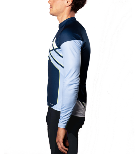 Cycling Jersey CL3 Basic Long Sleeve Side view