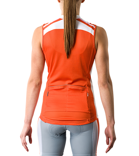 Wielershirt CT5w Pro Sleeveless Dames Achteraanzicht