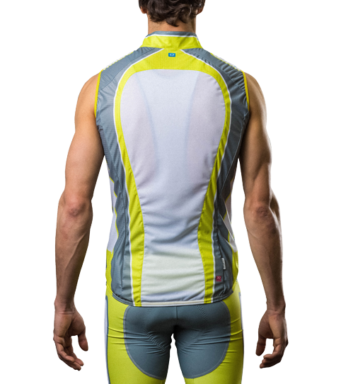 Gilet (Wind Vest) CVW5 Pro V with Mesh Back View