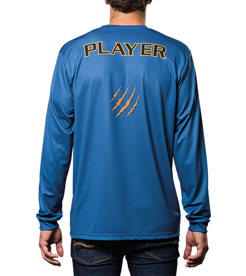 FL3 Basic Jerseys Long Sleeve Back View