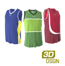 Customized basketball jerseys designed in our 3D kit designer