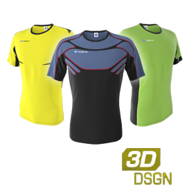 Customized eSports jerseys designed in our 3D kit designer