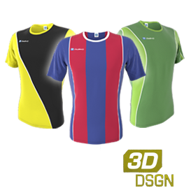 Customised football jerseys designed in our 3D kit designer