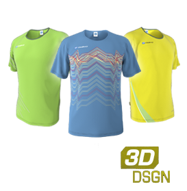 Customised running jerseys designed in our 3D kit designer