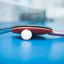 Table tennis player in customised table tennis jersey from owayo